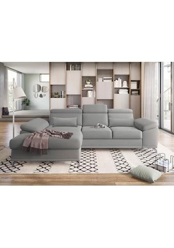 sit&more Ecksofa, mit Sitztiefen- und Armteilverstellung sowie Federkern, wahlweise... kaufen