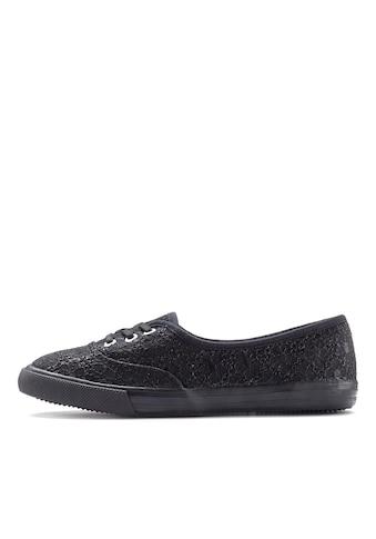 LASCANA Sneaker, aus Textil mit Spitzeneinsatz kaufen