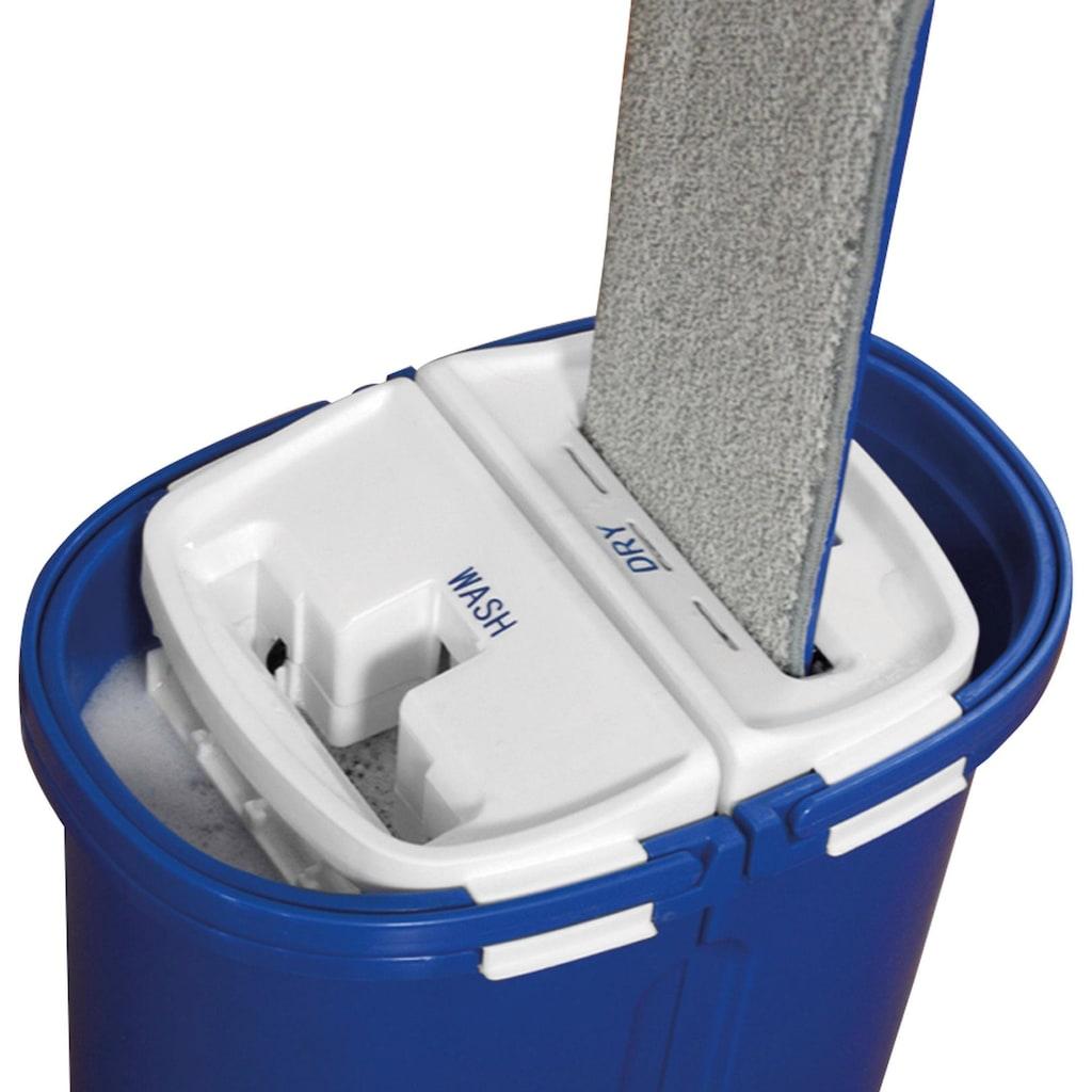 MediaShop Bodenwischer-Set »Livington Touchless Mop XXL«, inkl. Doppeleimer (7 Liter) und Mikrofaserpad