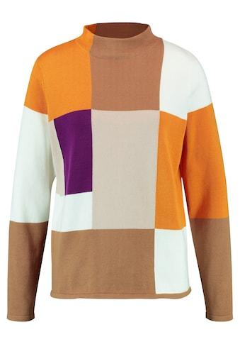 GERRY WEBER Rollkragenpullover »Pullover mit Colourblocking« kaufen