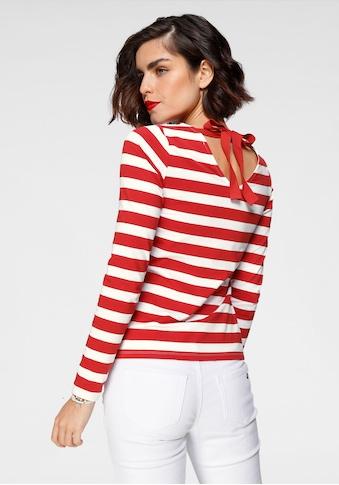 Tamaris Langarmshirt, mit Schleifendetail am Rücken kaufen