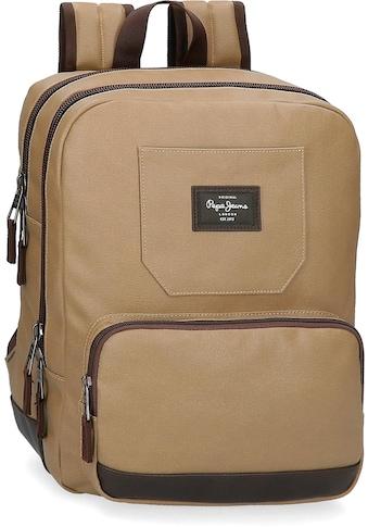 Pepe Jeans Laptoprucksack »Jasp, braun«, mit USB-Anschluss kaufen