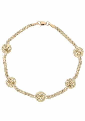 Firetti Goldarmband »Fantasiekettengliederung mit Knotenoptik, Gelbgold« kaufen