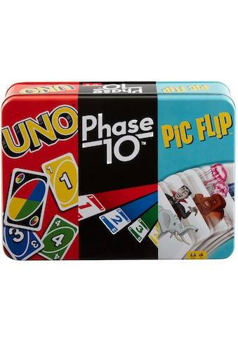 Mattel games Spielesammlung »Kartenspiel-Klassiker in Metalldose: UNO, Phase 10, Pic... kaufen