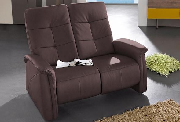 braunes Relaxsofa für zwei Personen