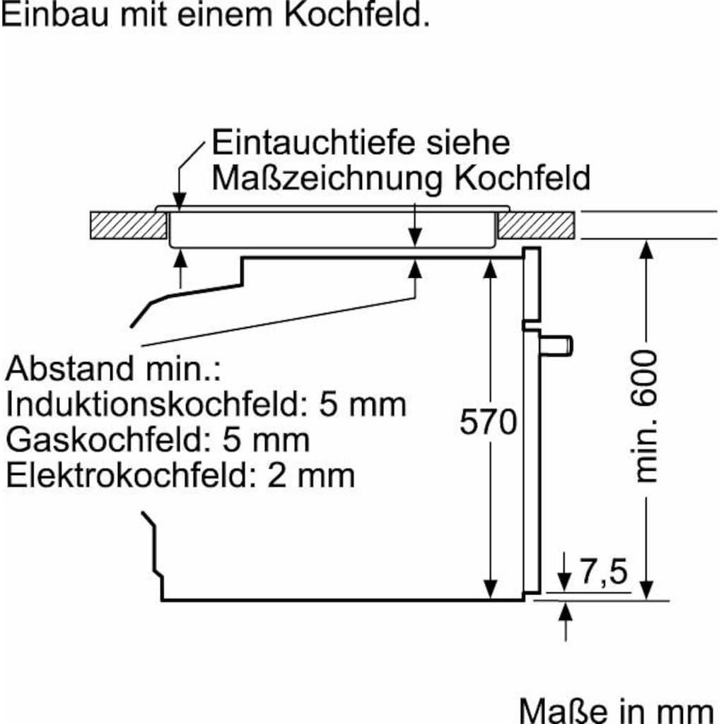 Constructa Elektro-Herd-Set »CX5HS601«, mit High-Speed-Kochzonen