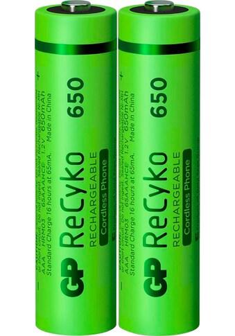 GP Batteries Akku »AAA Akku GP NiMH 650 mAh ReCyko 1,2V 2 Stück«, AAA, 650 mAh kaufen