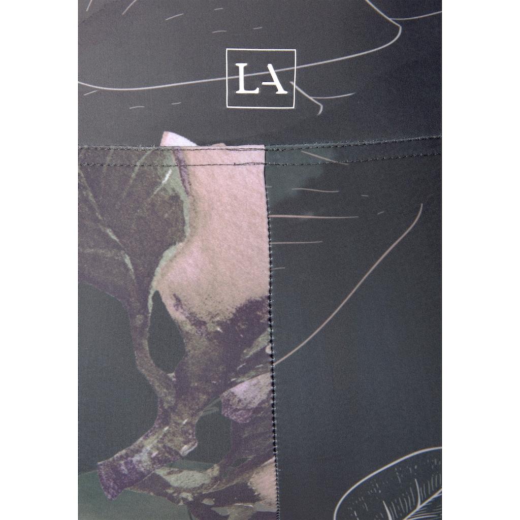 LASCANA Leggings »Tropical«, mit abstraktem Blumenprint