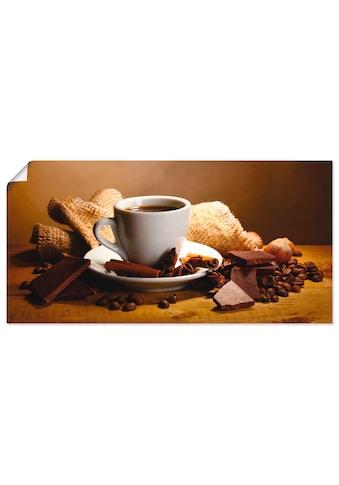 Artland Wandbild »Kaffeetasse Zimtstange Nüsse Schokolade«, Getränke, (1 St.), in... kaufen