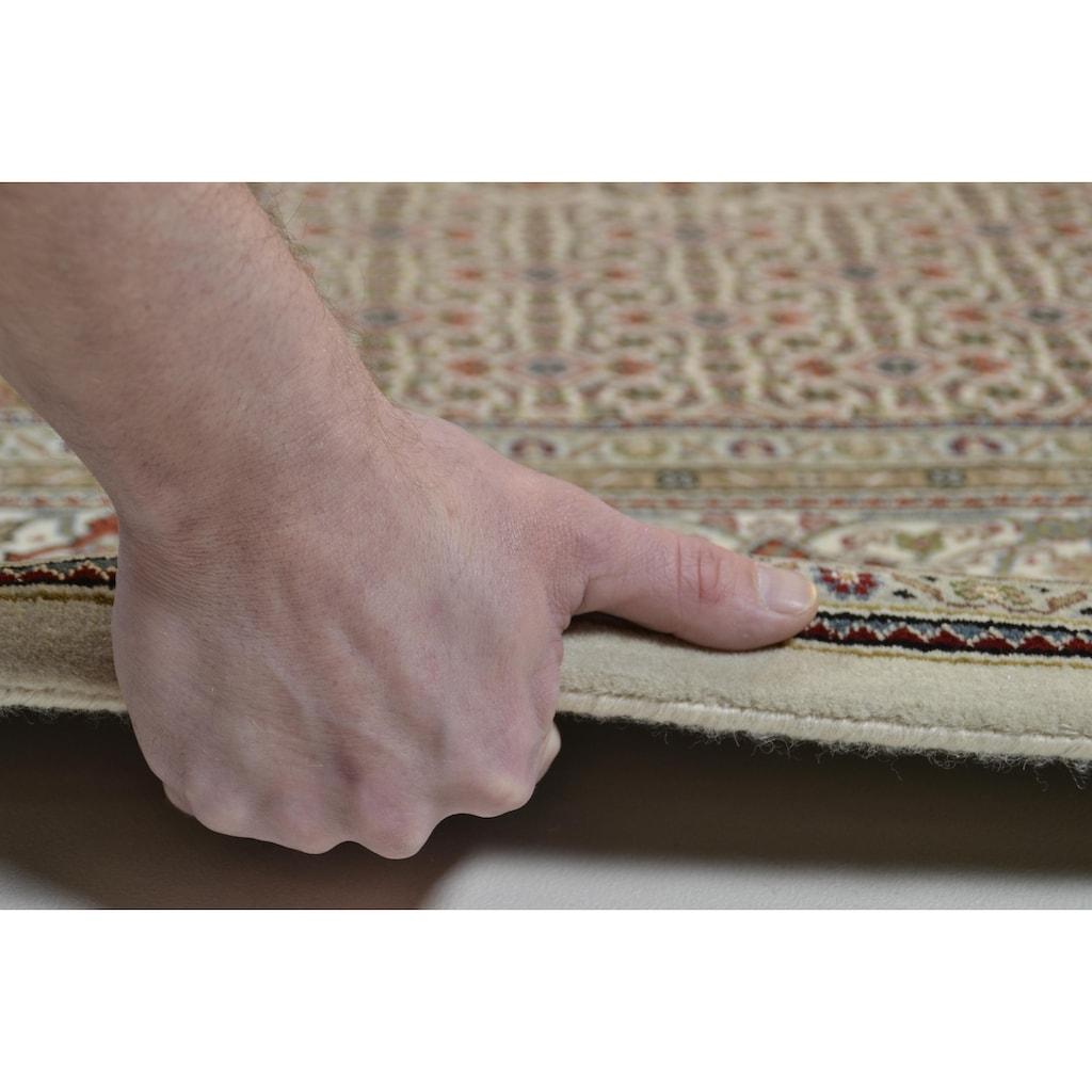 THEKO Orientteppich »Mahi Tabriz«, rechteckig, 12 mm Höhe, Flor aus 30% Seide, handgeknüpft, mit Fransen, Wohnzimmer