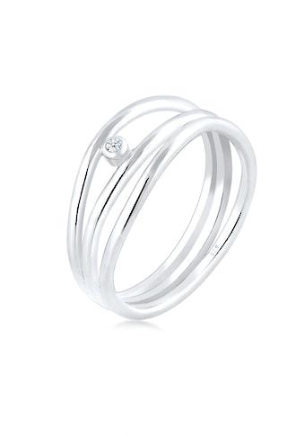 Elli Diamantring »Wickelring Asymmetrisch Diamant (0.015ct.) Silber« kaufen