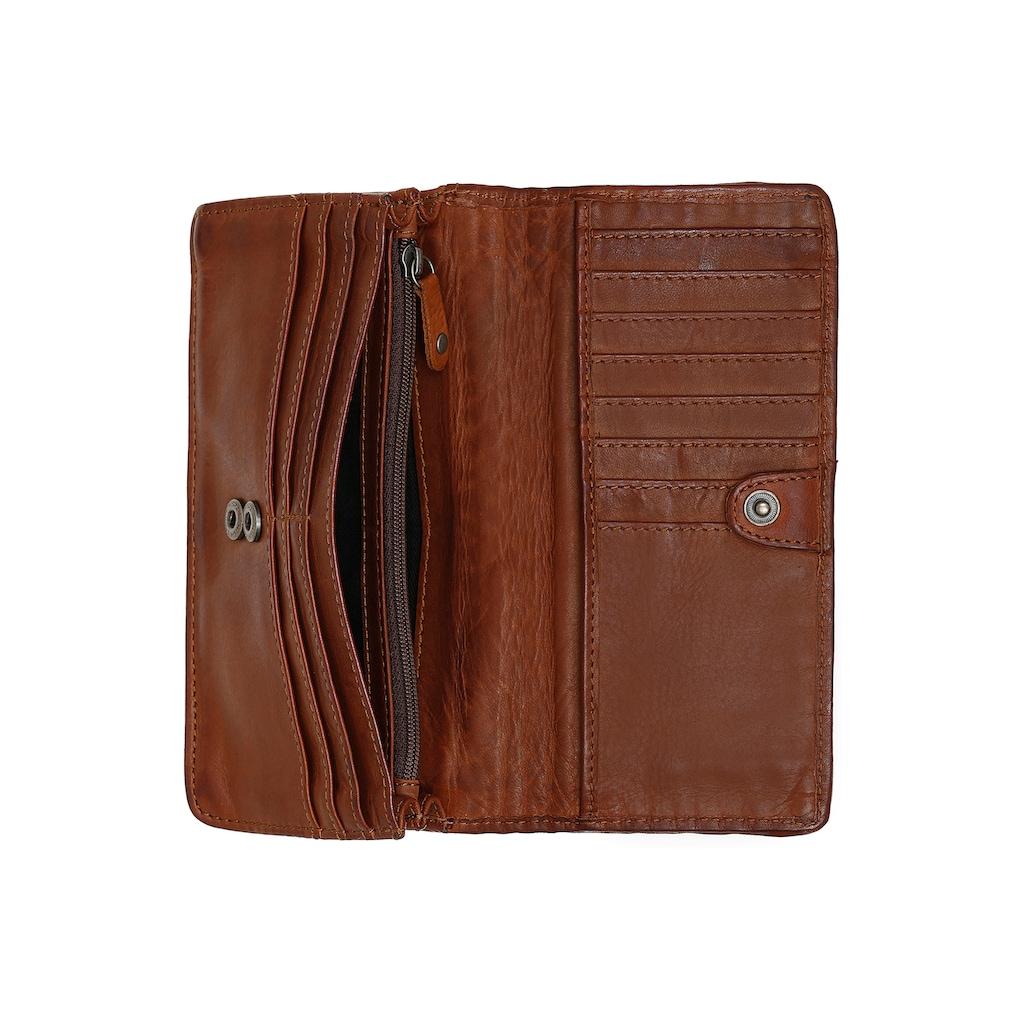 HARBOUR 2nd Geldbörse »B3.2224 sw2-kl-Shelly«, aus Leder mit geflochtener Front