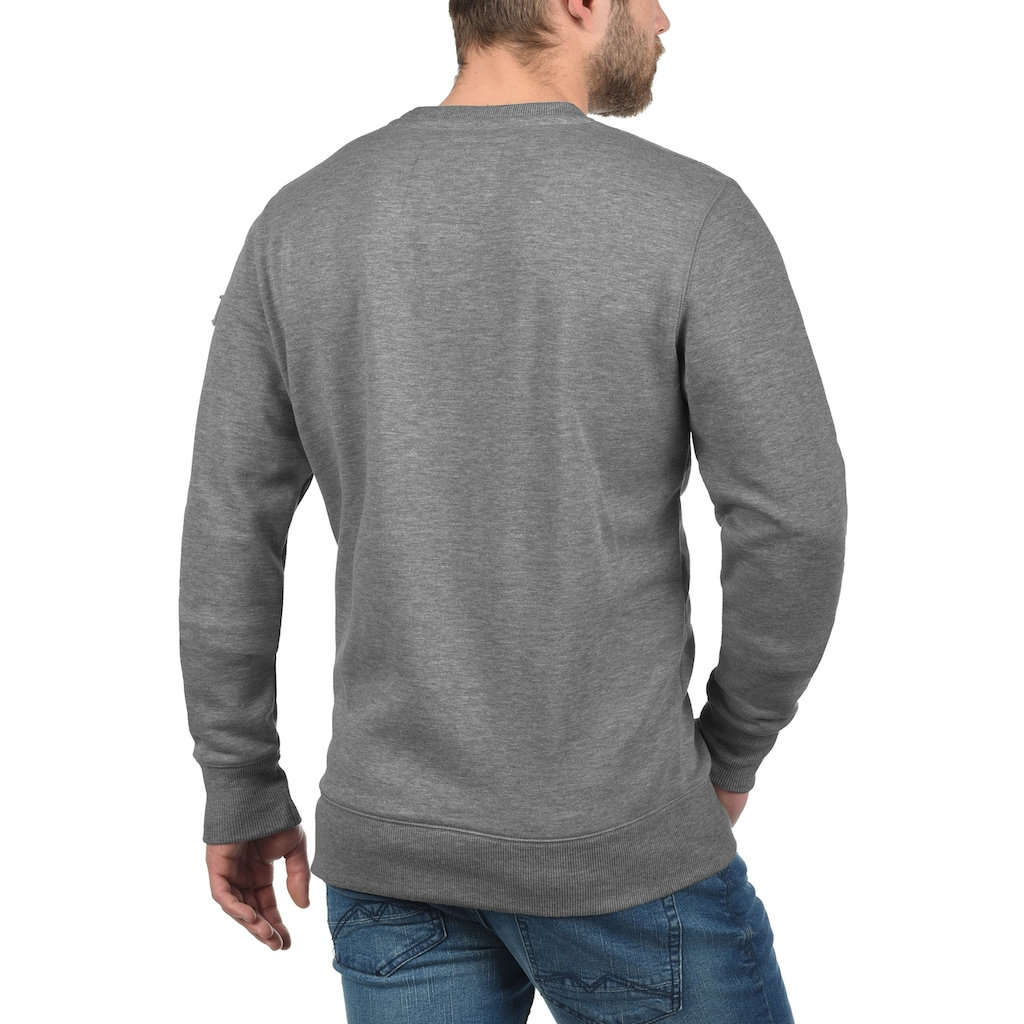 Solid Sweatshirt »Trip O-Neck«, Sweatpullover mit Fleece-Innenseite