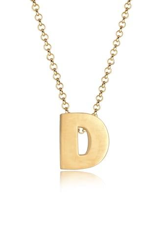 Elli Kette mit Anhänger »Buchstabe D Initialen Trend Minimal 925 Silber« kaufen