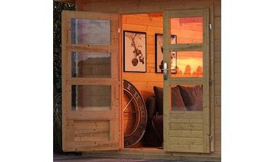 KONIFERA Gartenhaus »Schloßsee 7«, mit Anbaudach und Rückwand kaufen