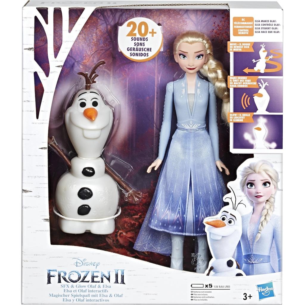 Hasbro Anziehpuppe »Die Eiskönigin II, Magischer Spielspaß mit Elsa & Olaf«, interaktiv