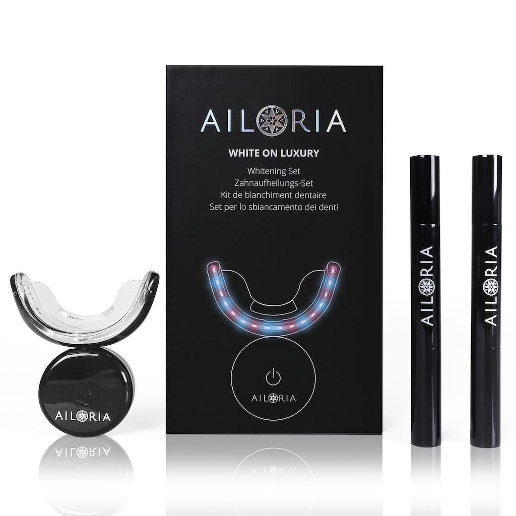 AILORIA Zahnpflege-Set »WHITE ON LUXURY Whitening Set«, Zahnaufhellung Bleaching