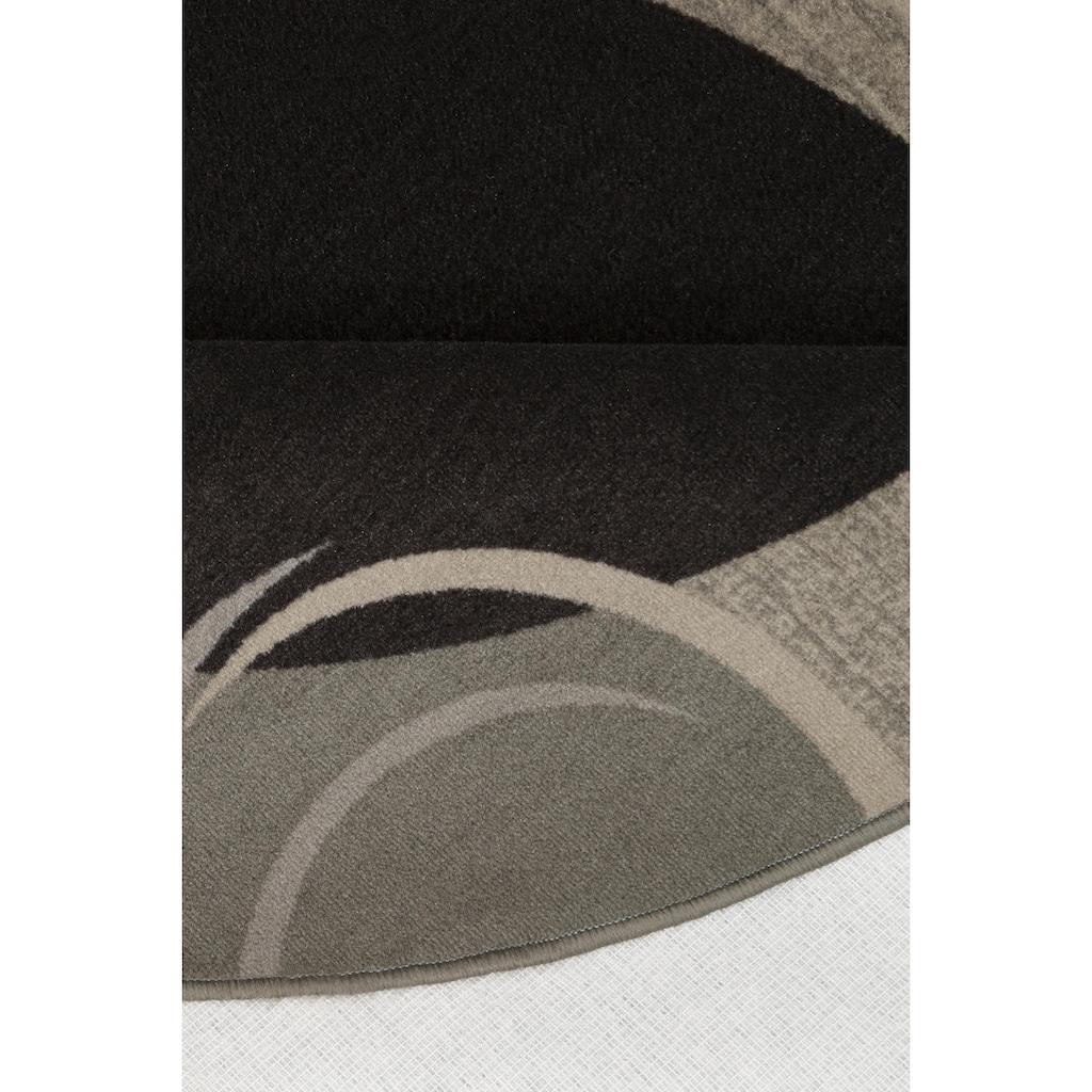THEKO Teppich »Loures«, rund, 6 mm Höhe, Kurzflor, mit moderner Bordüre, Wohnzimmer