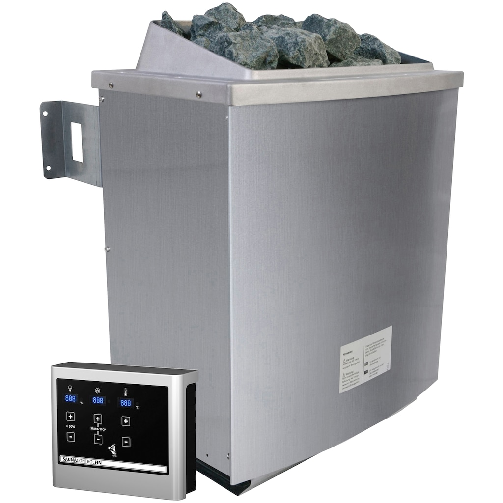 Karibu Sauna »Fedder«, 4,5-kW-Ofen mit ext. Steuerung