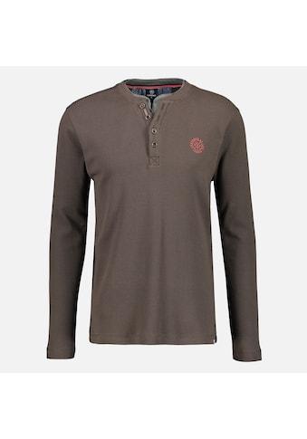 LERROS Henleyshirt »Serafino«, in unifarbener Waffel-Piquéqualität kaufen