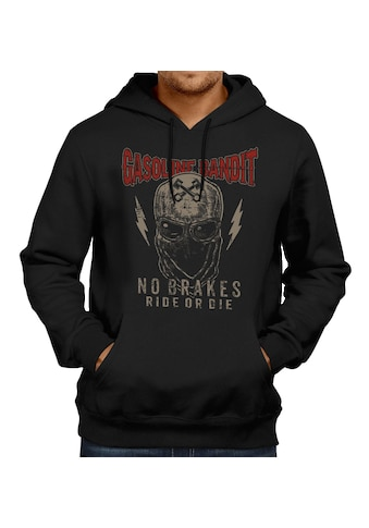 GASOLINE BANDIT® Hoodie mit coolem Totenkopf-Frontdruck kaufen