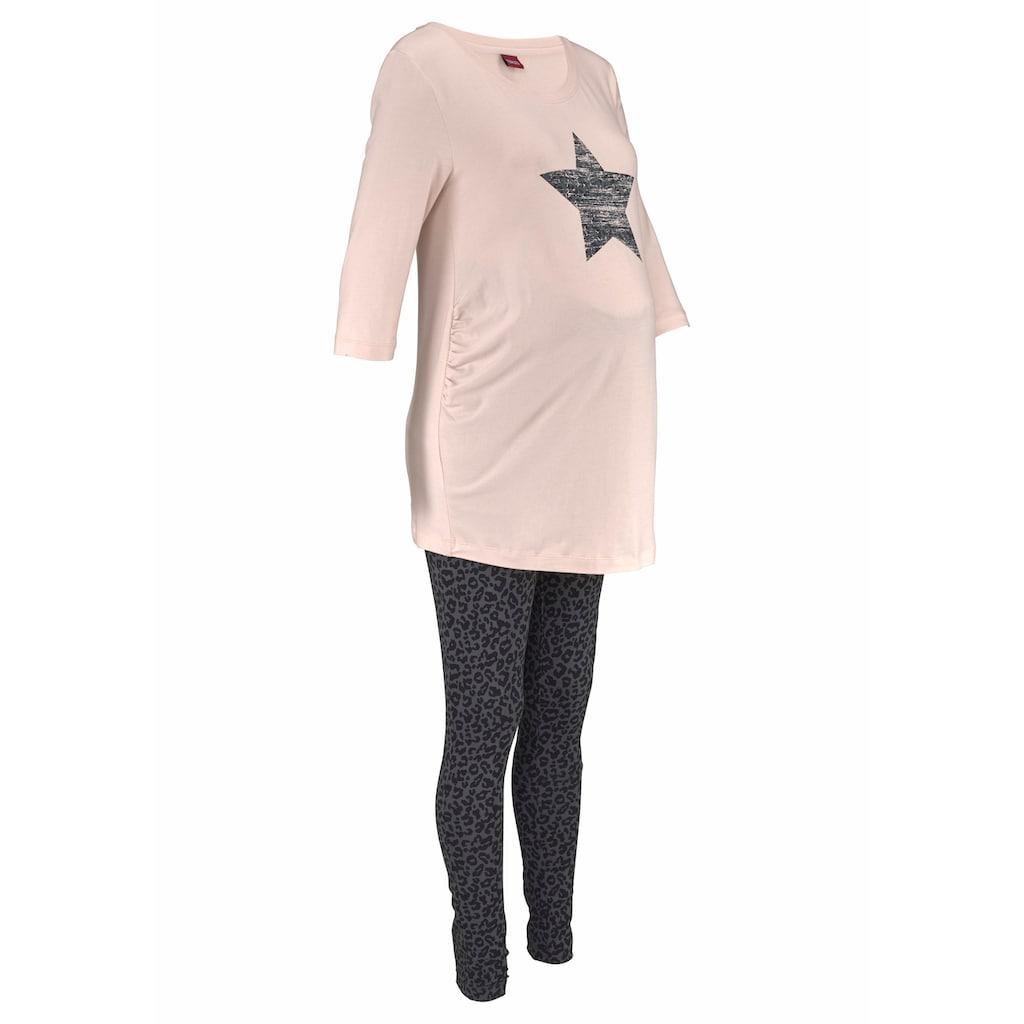 Buffalo Umstandspyjama, im Leomuster mit Sternenprint
