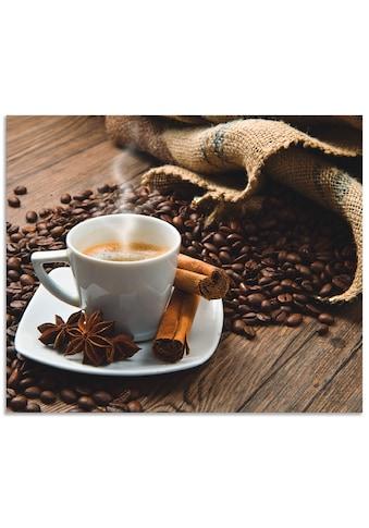 Artland Küchenrückwand »Kaffeetasse Leinensack mit Kaffeebohnen«, selbstklebend in... kaufen