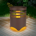 MAXXMEE LED Gartenleuchte »Solar-Feuerstelle«, 1 St., Warmweiß, MAXXMEE, Flammeneffekt, Rost-Optik