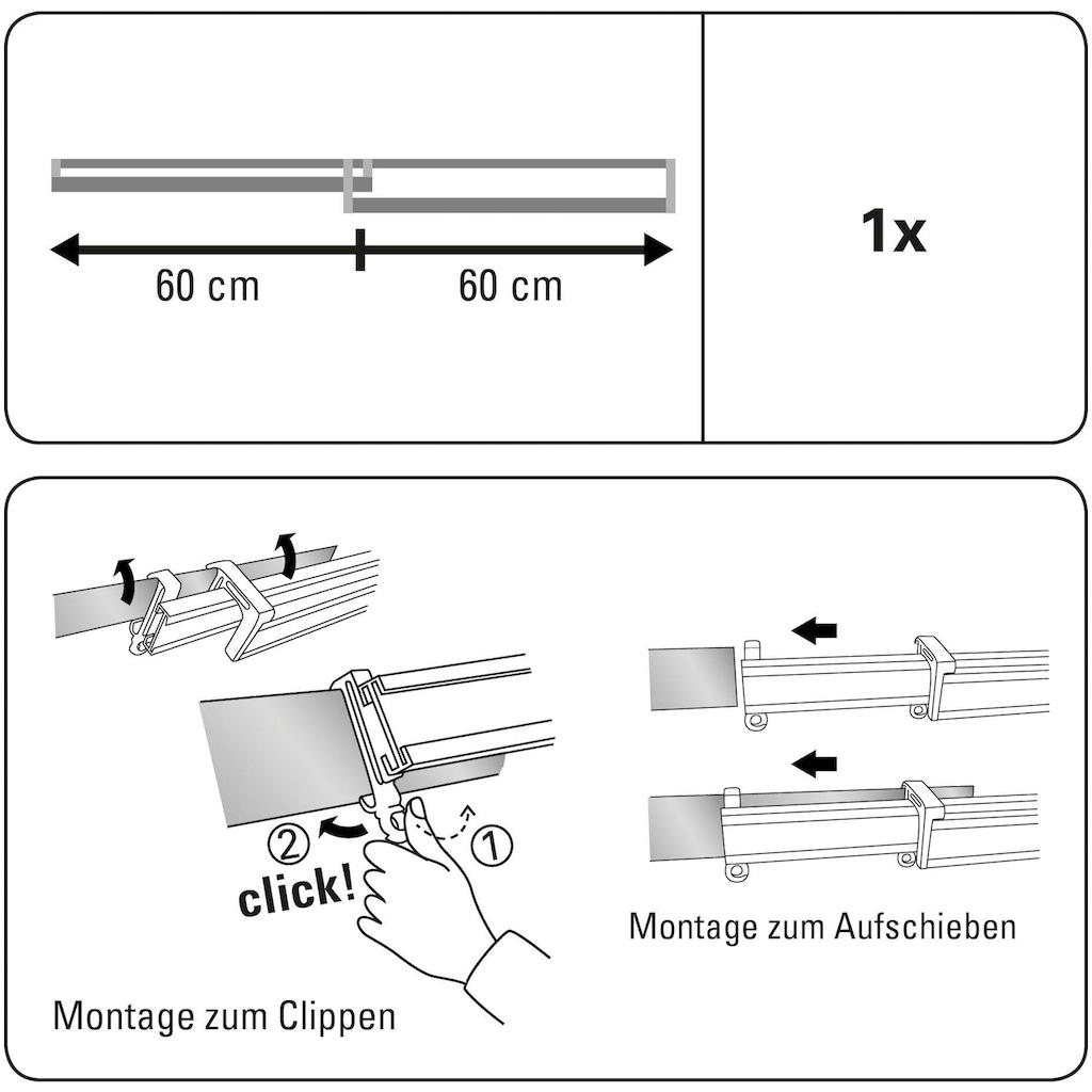 GARDINIA Paneelwagen »Clip-On Paneelwagen«, (3 St.), Kunststoff, Serie Vorhangschiene Perfectline