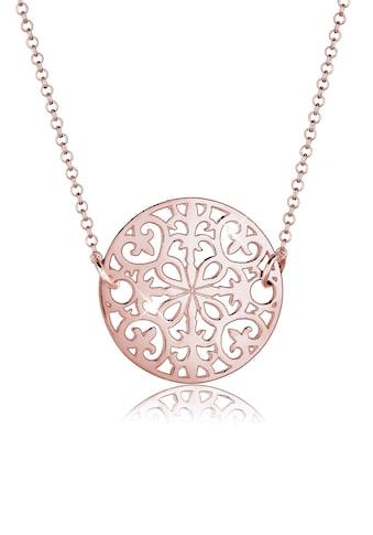 Elli Kette mit Anhänger »Ornament Münze 925 Sterling Silber« kaufen