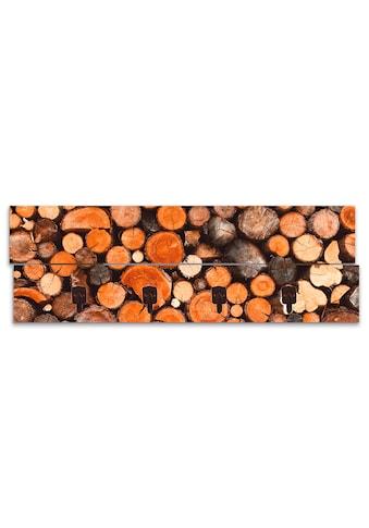 Artland Garderobenpaneel »Geschichtetes Feuerholz«, platzsparende Wandgarderobe aus... kaufen