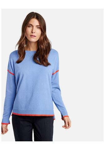 GERRY WEBER Pullover Langarm Rundhals »Pullover mit Kontrastkanten« kaufen