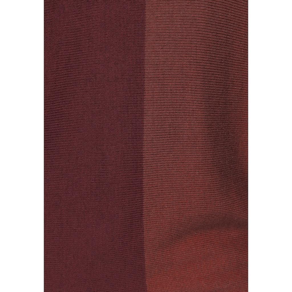 Boysen's Rundhalspullover, mit modischem Pastel-Colorblocking