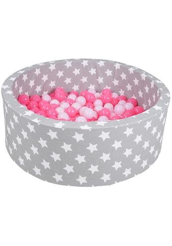 Knorrtoys® Bällebad »Soft, Grey white stars«, mit 300 Bällen soft pink; Made in Europe kaufen