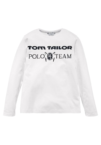 TOM TAILOR Polo Team Langarmshirt, mit dunklem Druck kaufen
