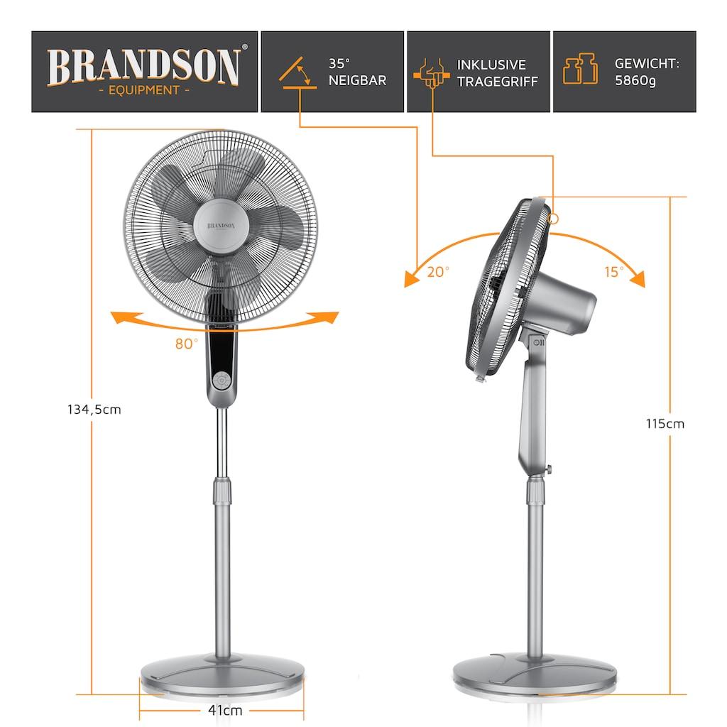 Brandson DC Standventilator mit Fernbedienung