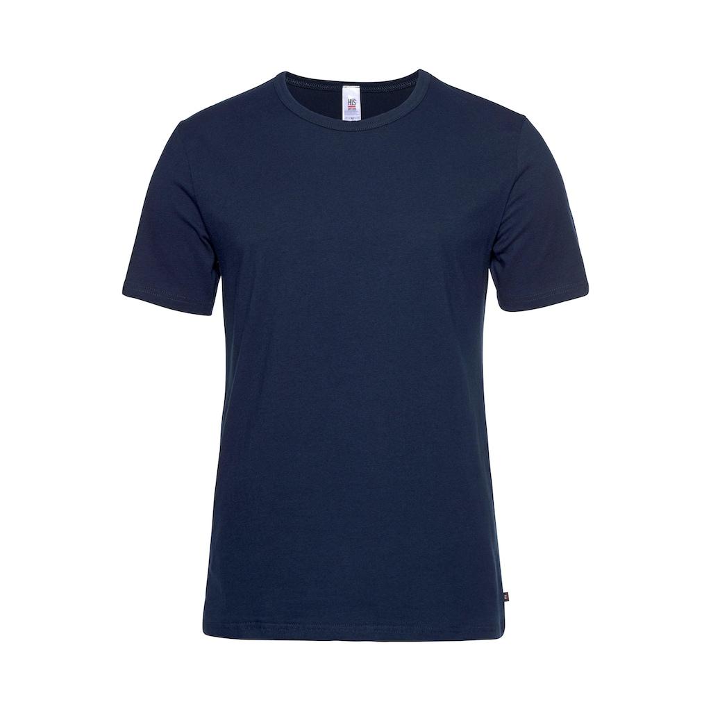 H.I.S T-Shirt, mit Rundhalsausschnitt und kleinem Logo