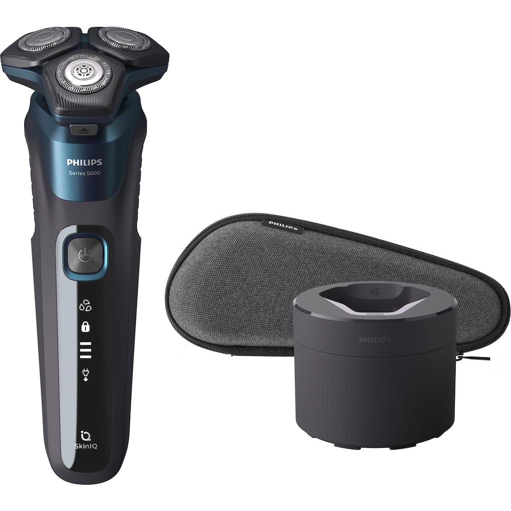 Philips Elektrorasierer »S5579/50«, Reinigungsstation, ausklappbarer Langhaarschneider, mit SkinIQ Technologie