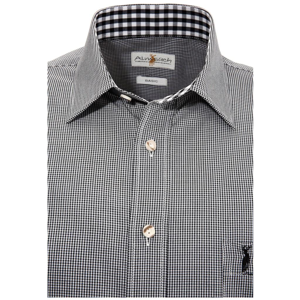 Almsach Trachtenhemd, im Karo-Design