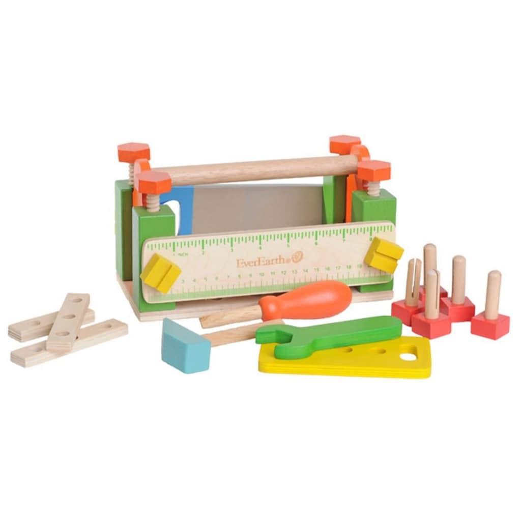 EverEarth® Spiel-Werkzeugstation »2-in-1 Werkzeugkasten und Werkbank«, FSC®-Holz aus gewissenhaft bewirtschafteten Wäldern