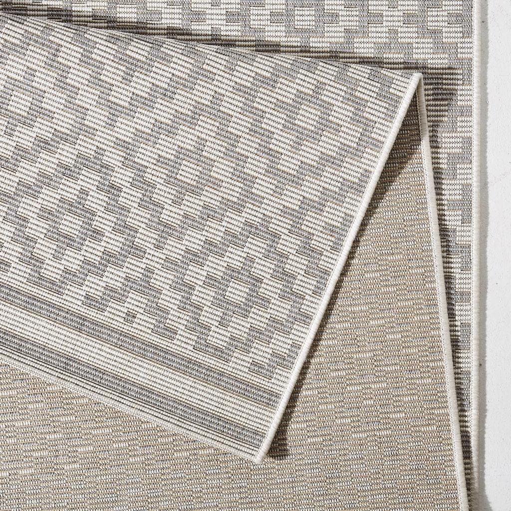 bougari Teppich »Raute«, rechteckig, 8 mm Höhe, Flachgewebe, In- und Outdoor geeignet, Rauten-Design, Für Terasse und Balkon, Wohnzimmer