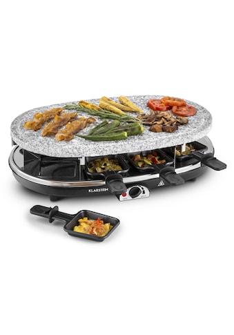 Klarstein Raclette Grill 8 Personen Granit - Natursteinplatte 2in1 1500W »Steaklette« kaufen
