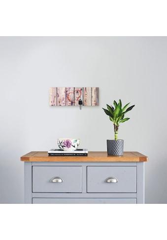 Artland Schlüsselbrett »Vintage Hintergrund Holzwand mit Herz«, aus Holz mit 4... kaufen