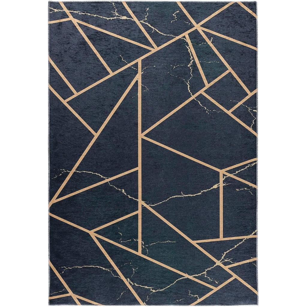 Sehrazat Teppich »Caimas 2990«, rechteckig, 5 mm Höhe, waschbar, weiche Microfaser, Wohnzimmer