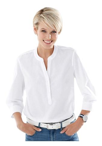 Classic Basics Bluse mit kurzer Knopfleiste kaufen