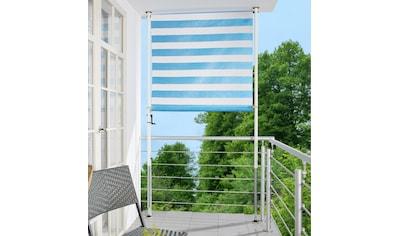 ANGERER FREIZEITMÖBEL Klemm - Senkrechtmarkise blau/weiß, BxH: 120x275 cm kaufen