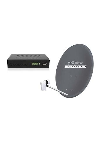 Microelectronic Digitale Single Sat Anlage 60cm mit LNB und HD Sat - Receiver kaufen