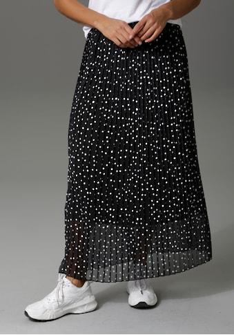 Aniston CASUAL Plisseerock, mit Punkten bedruckt kaufen