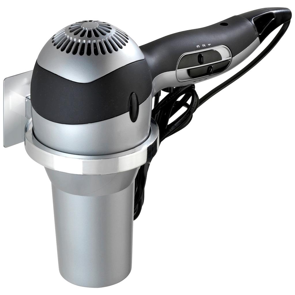 WENKO Haartrocknerhalter »Turbo-Loc Quadro«, Turbo-Loc®-Wandbefestigungssystem ohne Bohren