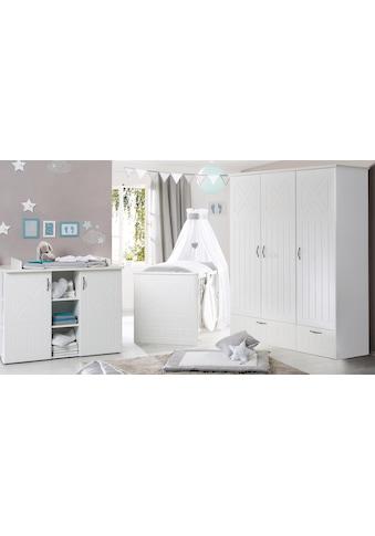 roba® Babyzimmer-Komplettset »Constantin«, (Set, 3 St.), mit Kinderbett, Schrank und... kaufen